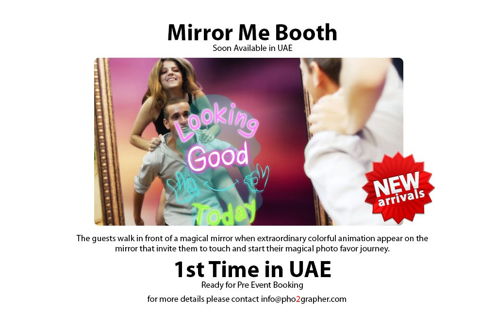 mirror booth in Dubai