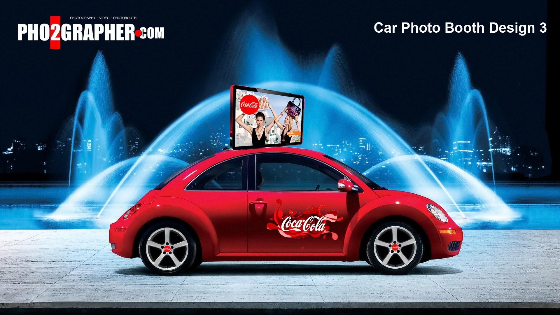 cocacola car booth