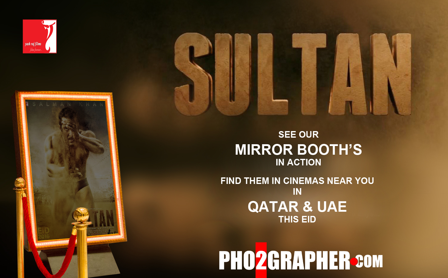 mirror booth dubai Sultan movie premiere