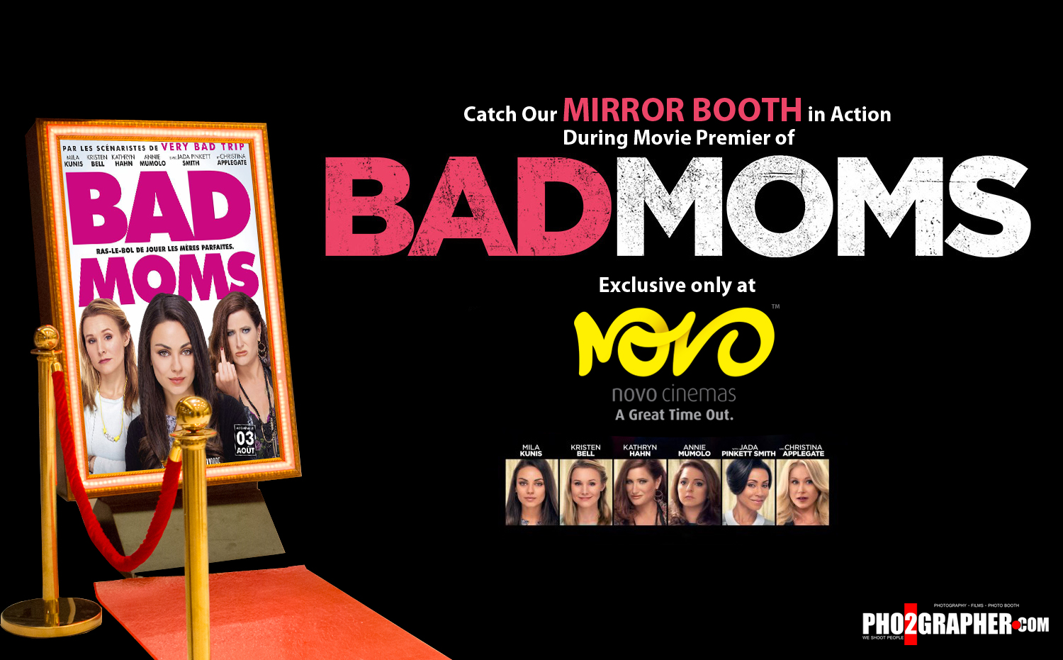 Bad moms movie Dubai photo booth