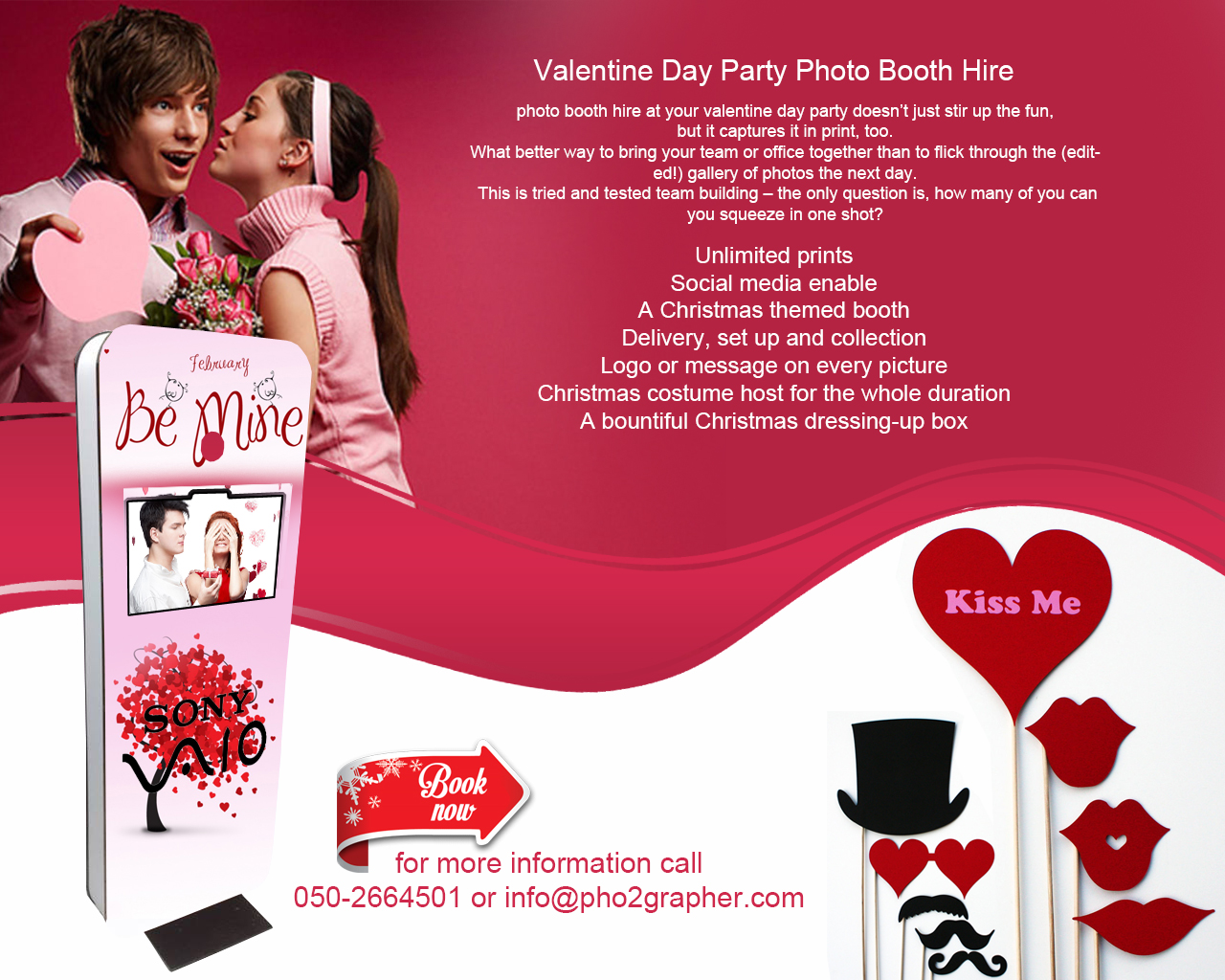 Valentine Photo Booth dubai